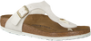 Weißen BIRKENSTOCK PAPILLIO Slipper GIZEH ANIMAL FASCINATION   - small