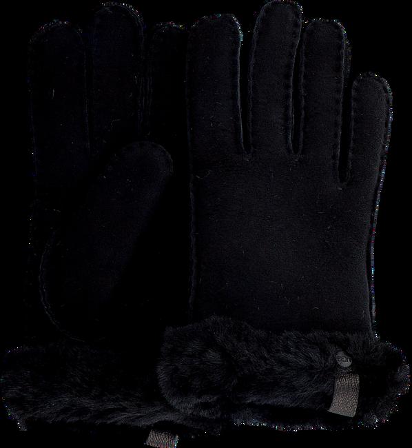 Schwarze UGG Handschuhe SHORTY GLOVE W/TRIM  - large