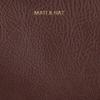 Braune MATT & NAT Umhängetasche TRIPLET CROSSBODY  - small