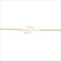 Goldfarbene ALLTHELUCKINTHEWORLD Armband SOUVENIR BRACELET CACTUS - medium