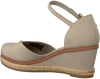 Graue TOMMY HILFIGER Sandalen BASIC CLOSED TOE MID WEDGE  - small