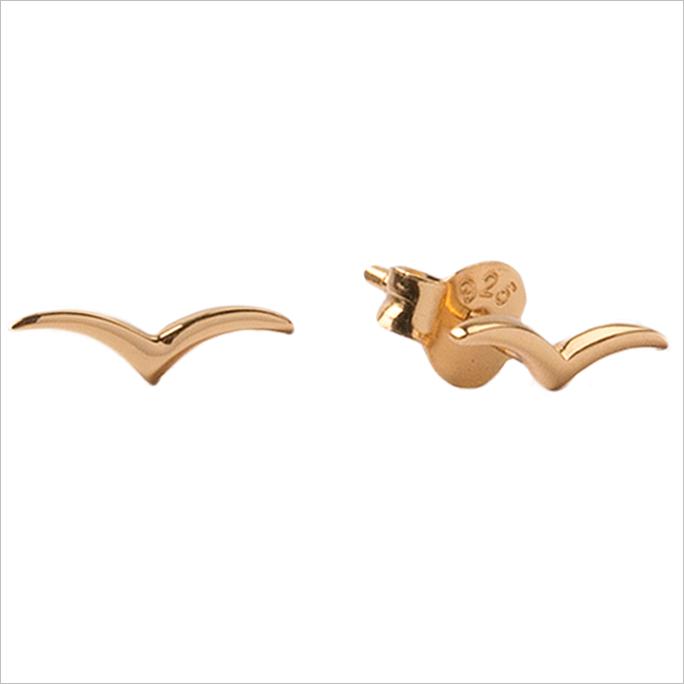 Goldfarbene ATLITW STUDIO Ohrringe PARADE EARRINGS SWALLOW WHpgS