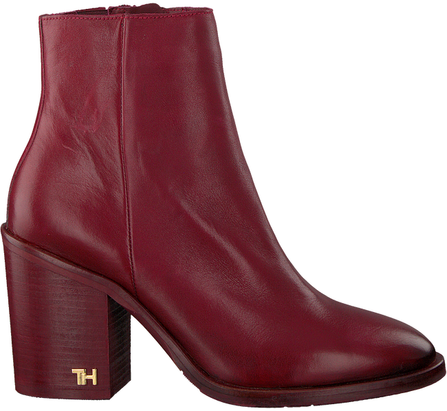 Rote TOMMY HILFIGER Stiefeletten MONO COLOR HEELED  - large