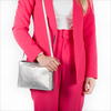 Silberne TED BAKER Clutch COTTII  - small