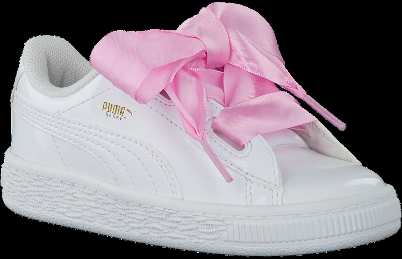 Weiße PUMA Sneaker BASKET HEART PATENT KIDS   Omoda