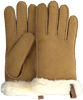 Camelfarbene UGG Handschuhe SHORTY GLOVE W/TRIM  - small