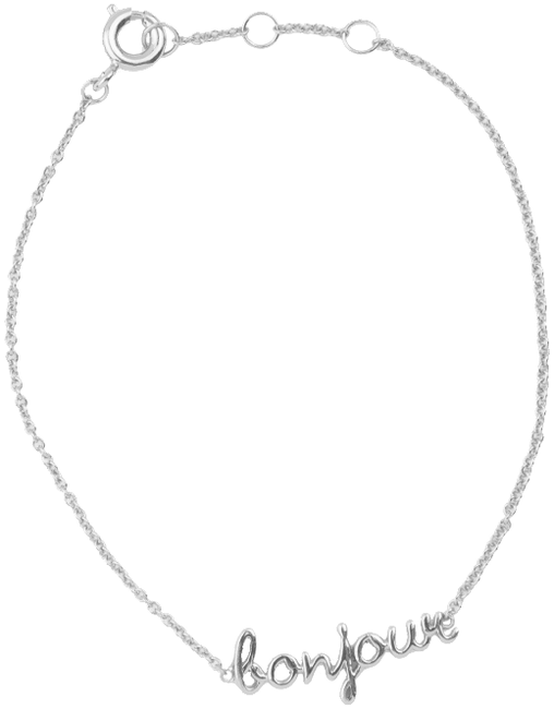 Silberne ALLTHELUCKINTHEWORLD Armband URBAN BRACELET BONJOUR - large