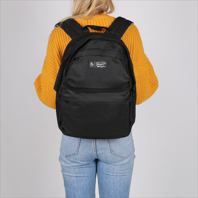 Schwarze ORIGINAL PENGUIN Rucksack CHATHAM STRIPE BACKPACK - large