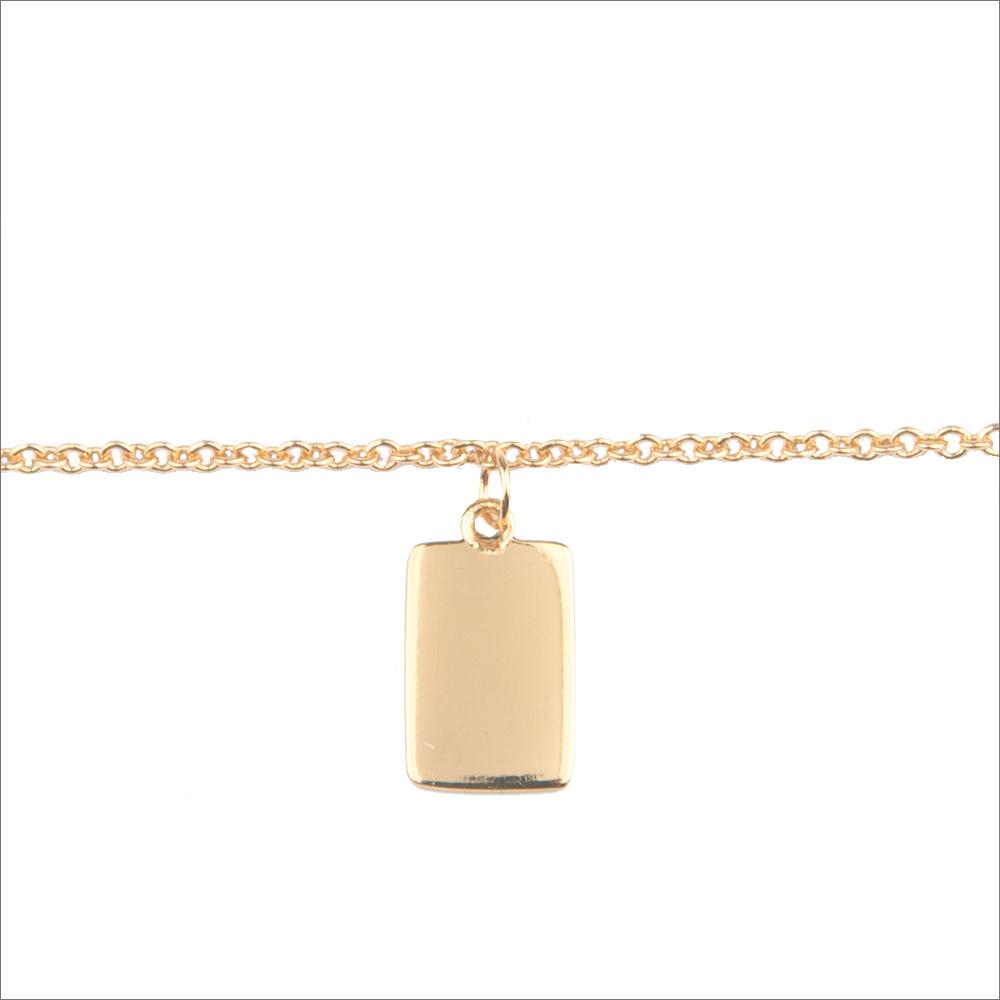 Goldfarbene ALLTHELUCKINTHEWORLD Armband SOUVENIR EARRINGS RECTANGLE ed6kX