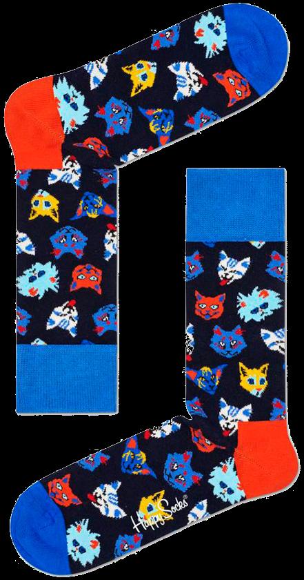 Mehrfarbige/Bunte HAPPY SOCKS Socken FUNNY CAT M7ZOO