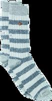 Graue Alfredo Gonzales Socken TWISTED WOOL STRIPE  - medium