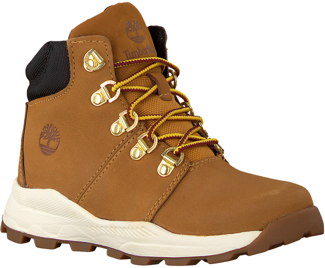 Camelfarbene TIMBERLAND Schnürboots BROOKLYN HIKER KIDS  - large