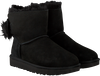 Schwarze UGG Ankle Boots FLUFF BOW MINI - small
