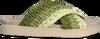Grüne INUIKII Pantolette KNITTED CROSSED  - small