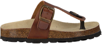 Cognacfarbene DEVELAB Sandalen 48005 - medium