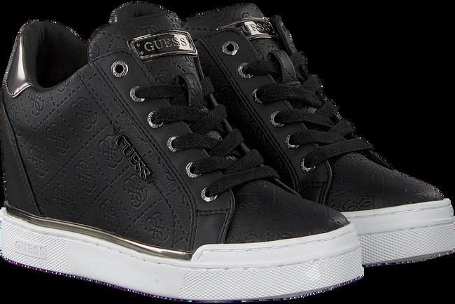 Schwarze GUESS Sneaker FLOWURS STIVALETTO  - large