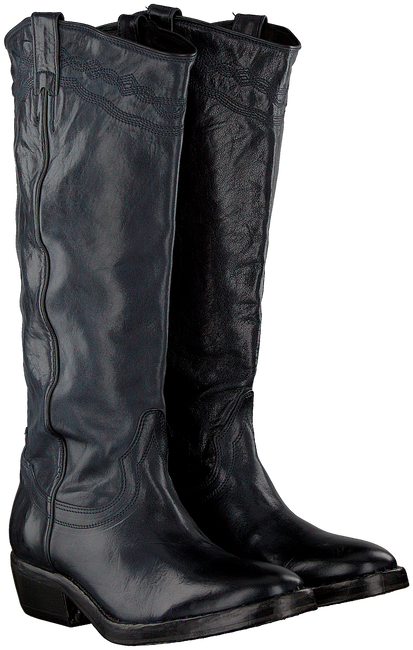 Schwarze CATARINA MARTINS Cowboystiefel NOMAD HIGH EMBROIDERY  - large