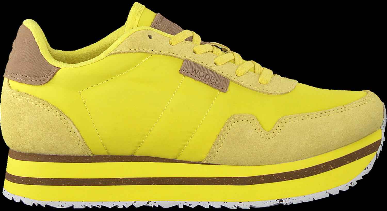 Gelbe WODEN Sneaker NORA II PLATEAU