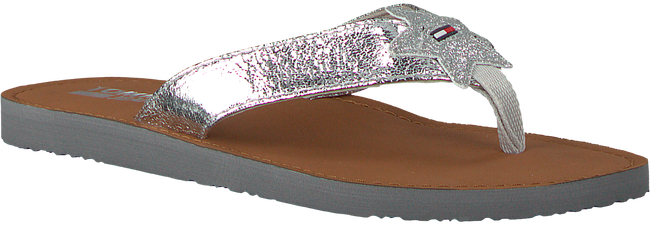 Silberne TOMMY HILFIGER Pantolette GLITTER BEACH SANDAL - large