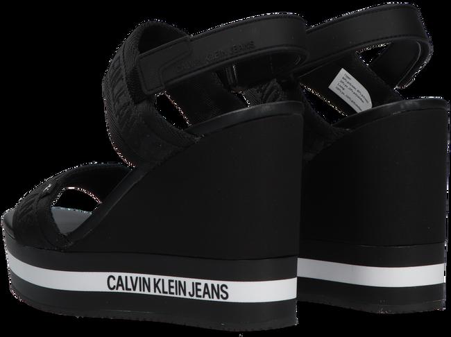 Schwarze CALVIN KLEIN Sandalen WEDGE SANDAL SLING  - large