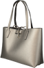 Silberne GUESS Handtasche BOBBI INSITE OUT TOTE  - small