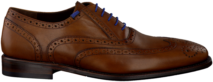 Cognacfarbene FLORIS VAN BOMMEL Business Schuhe 19470 - larger