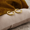 Goldfarbene NOTRE-V Ohrringe OORBEL GEDRAAID  - small