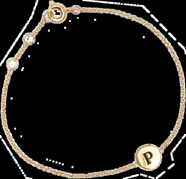 Goldfarbene ALLTHELUCKINTHEWORLD Armband CHARACTER BRACELET LETTER GOLD - large