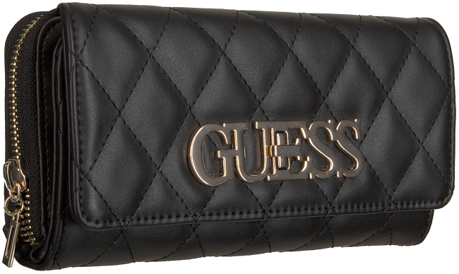Schwarze GUESS Portemonnaie SWEET CANDY SLG LRG CLTCH ORG  - large