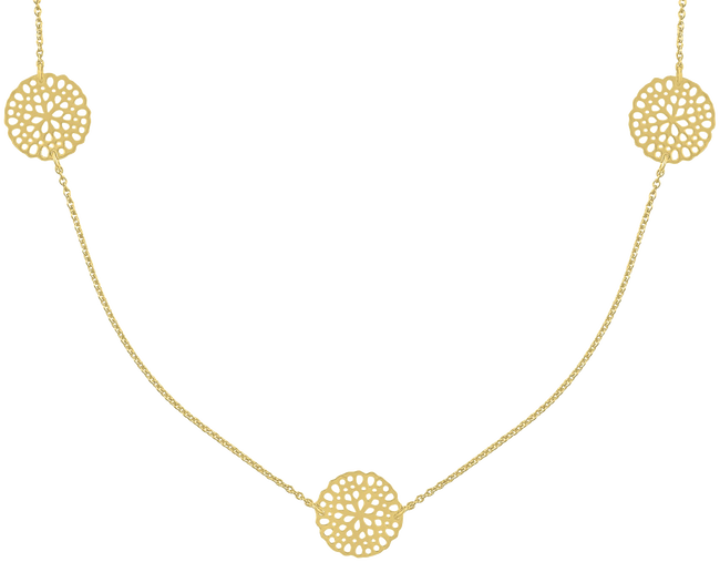 Goldfarbene JEWELLERY BY SOPHIE Kette NECKLACE LITTLE ROUNDS - large