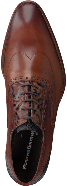Cognacfarbene FLORIS VAN BOMMEL Business Schuhe 19062 - large