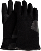 Schwarze UGG Handschuhe FABRIC AND LEATHER GLOVE - medium