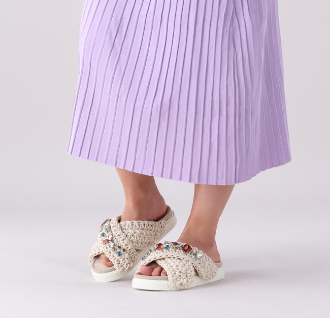 Beige INUIKII Pantolette WOVEN STONE  - large