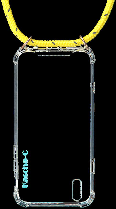 Gelbe KASCHA-C Handy-Schutzhülle PHONECORD IPHONE XR LpUGS