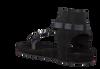 Schwarze CLIC! Sandalen TRENTO - small