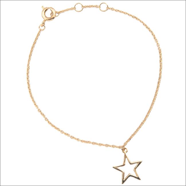 Goldfarbene ALLTHELUCKINTHEWORLD Armband SOUVENIR BRACELET STAR - large