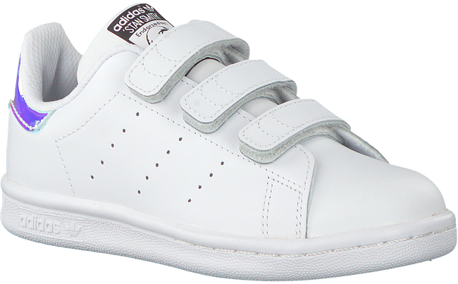 Weiße ADIDAS Sneaker STAN SMITH KIDS VELCRO - large
