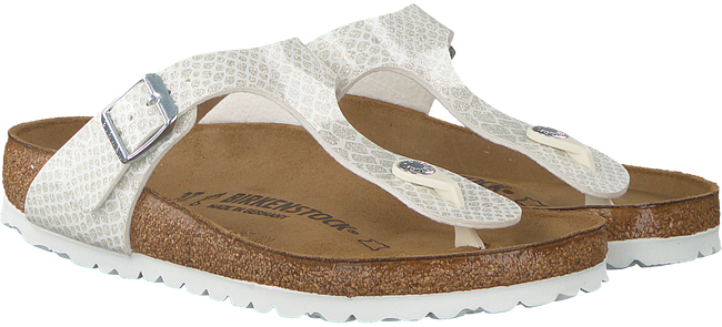 Weiße BIRKENSTOCK Pantolette GIZEH MAGIC SNAKE - large