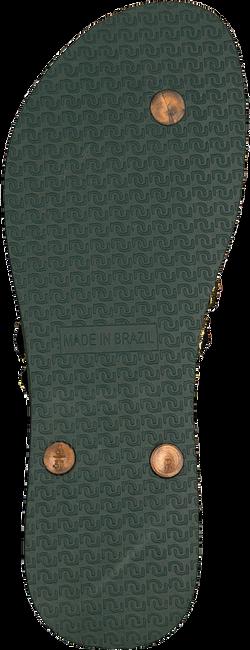 Grüne UZURII Pantolette BLACK FLOWER - large