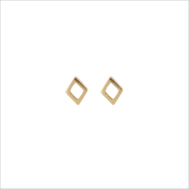 Goldfarbene ALLTHELUCKINTHEWORLD Ohrringe PETITE EARRINGS RHOMB - large
