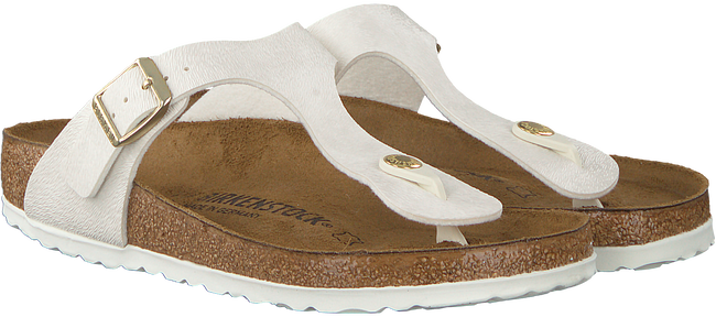 Weißen BIRKENSTOCK PAPILLIO Slipper GIZEH ANIMAL FASCINATION   - large