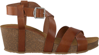 Cognacfarbene RED RAG Sandalen 78080  - medium