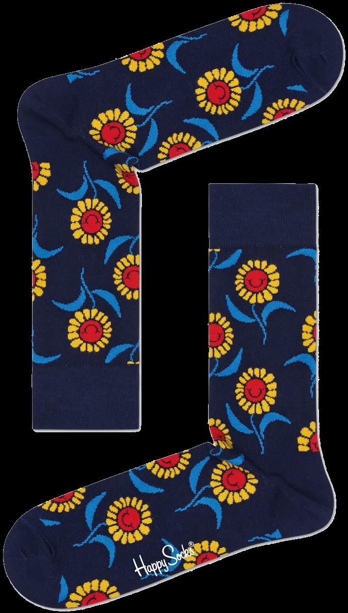 Blaue HAPPY SOCKS Socken SUNFLOWER SOCK zSxSj