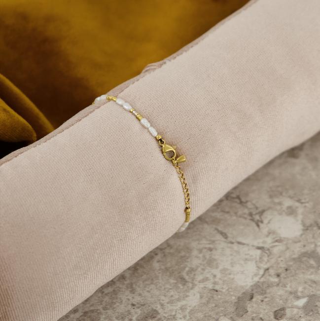 Goldfarbene NOTRE-V Armband ARMBAND KLEINE PARELS  - large