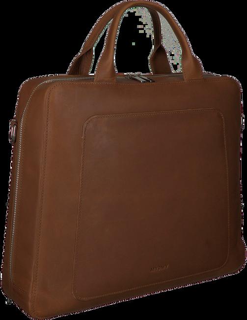 Cognacfarbene MYOMY Laptoptasche MY LOCKER BAG BUSINESS  - large