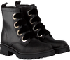 Schwarze TOMMY HILFIGER Schnürboots METALLIC CLEATED LACE UP BOOT - small