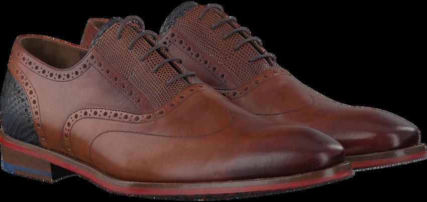 Cognacfarbene FLORIS VAN BOMMEL Business Schuhe 19062 - larger