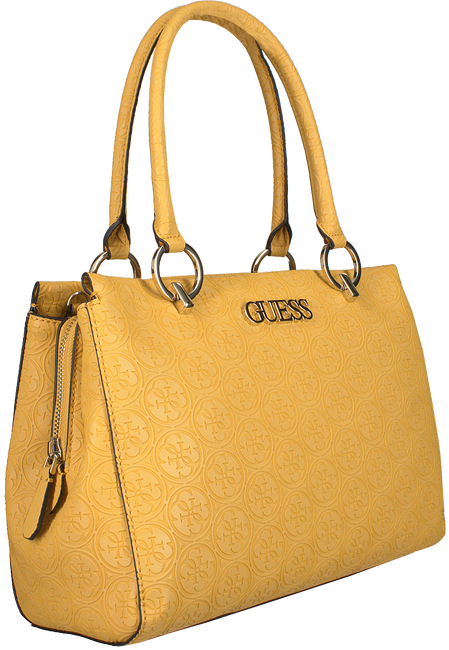 Goldfarbene GUESS Handtasche HERITAGE POP LRG GIRLFRIEND SA  - large