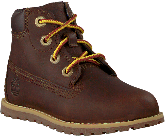 Braune TIMBERLAND Schnürboots POKEY PINE 6IN BOOT KIDS  - large