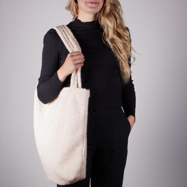 Weiße STUDIO NOOS Shopper BOUCLE MOM-BAG  - large